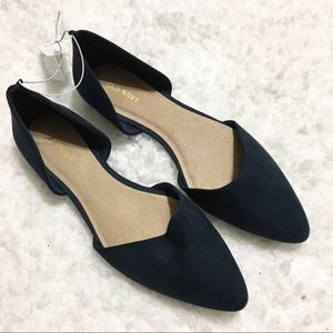 Old Navy NWT Navy/Teal Dorsay Pointed Flats